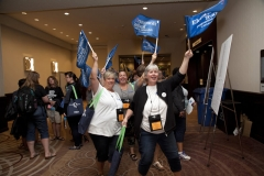 Delegates arriving at Annual Meeting