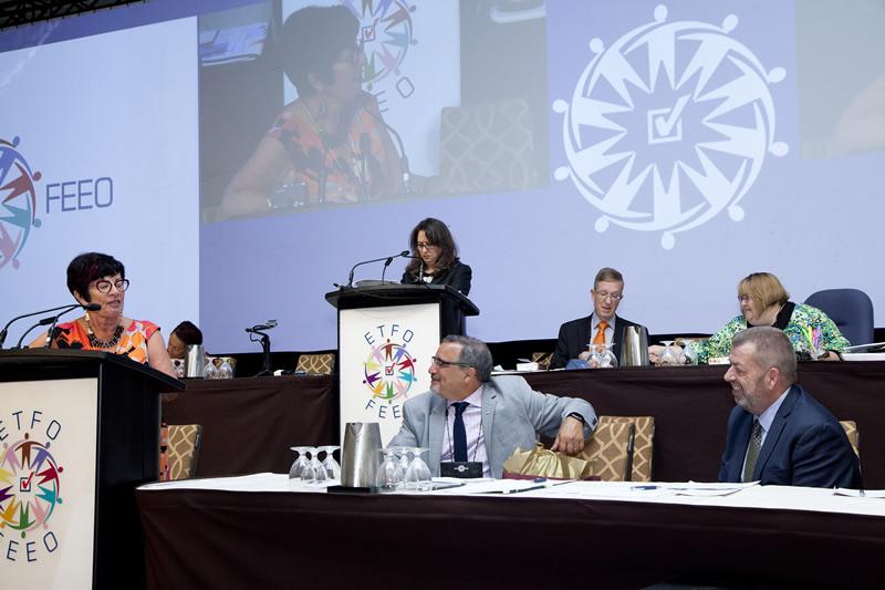 Susan Swackhammer thanks CTF President Mark Ramsankar