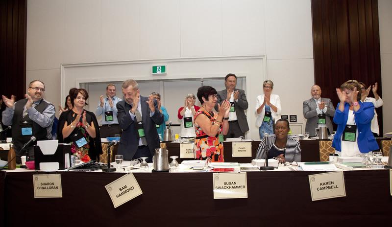 Karen Campbell elected as First VP
