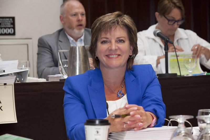 Re-elected VP Nancy Lawler