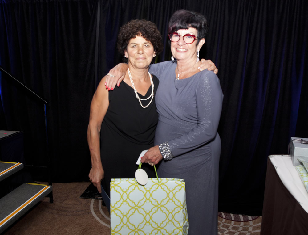 Honorary Life Member Sharon Aloian with Susan Swackhammer