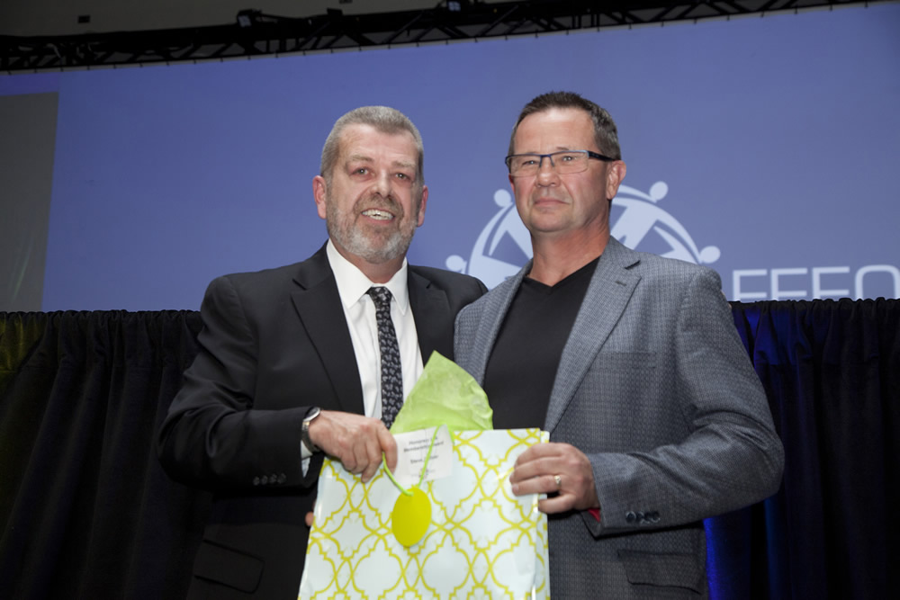 President Hammond with Honorary Life Member Steve Colliver