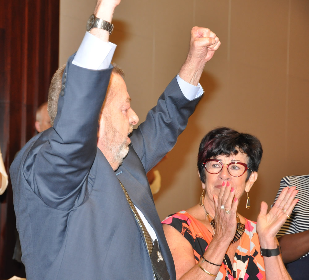 Sam Hammond reacts to being re-elected ETFO President